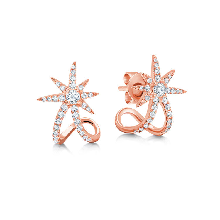 Rose Starburst Ear Cuffs
