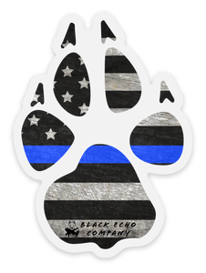 BEC Flag Paw Decal Stickers