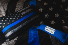 Load image into Gallery viewer, BEC Thin Blue Line Flag Premium Throw Pillow