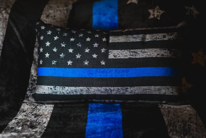 BEC Thin Blue Line Flag Premium Throw Pillow