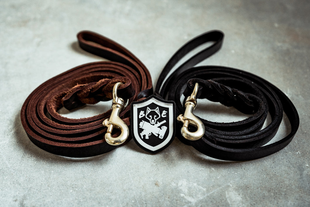 BEC K9 Leather Leash
