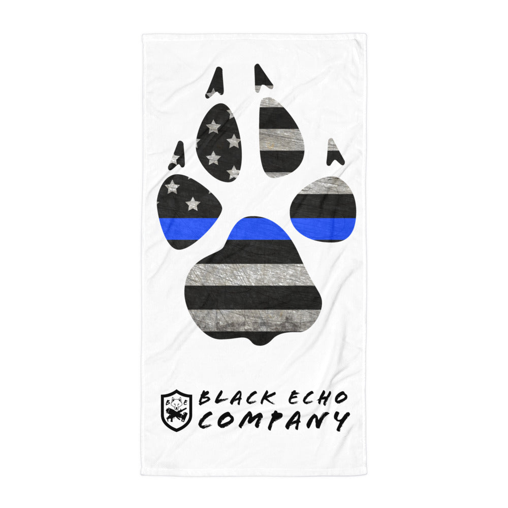 Support K9 Paw Beach Blanket/ Towel