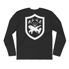 Load image into Gallery viewer, Fitted - Fitness Division Badge Back Long Sleeve Shirt