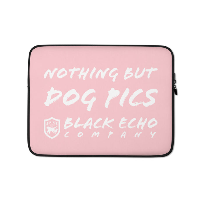 Nothing but Dog Pics Laptop Sleeve - Pink