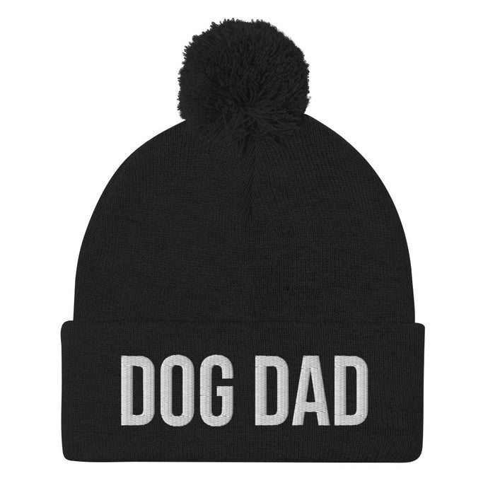 DOG DAD Pom Pom Beanie Hat