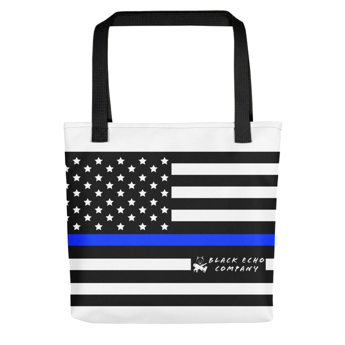Thin Blue Line Tote Bag - White