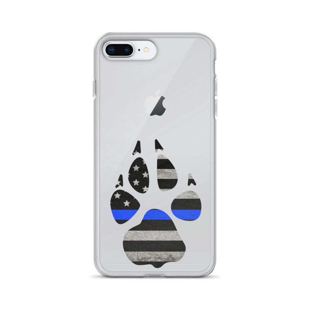 Thin Blue Line Flag Paw - iPhones