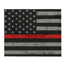 Load image into Gallery viewer, BEC Thin Red Line Throw Blanket