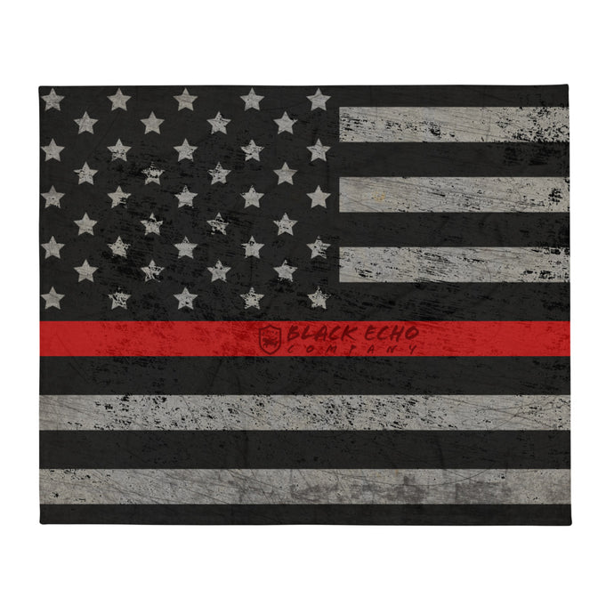 BEC Thin Red Line Throw Blanket