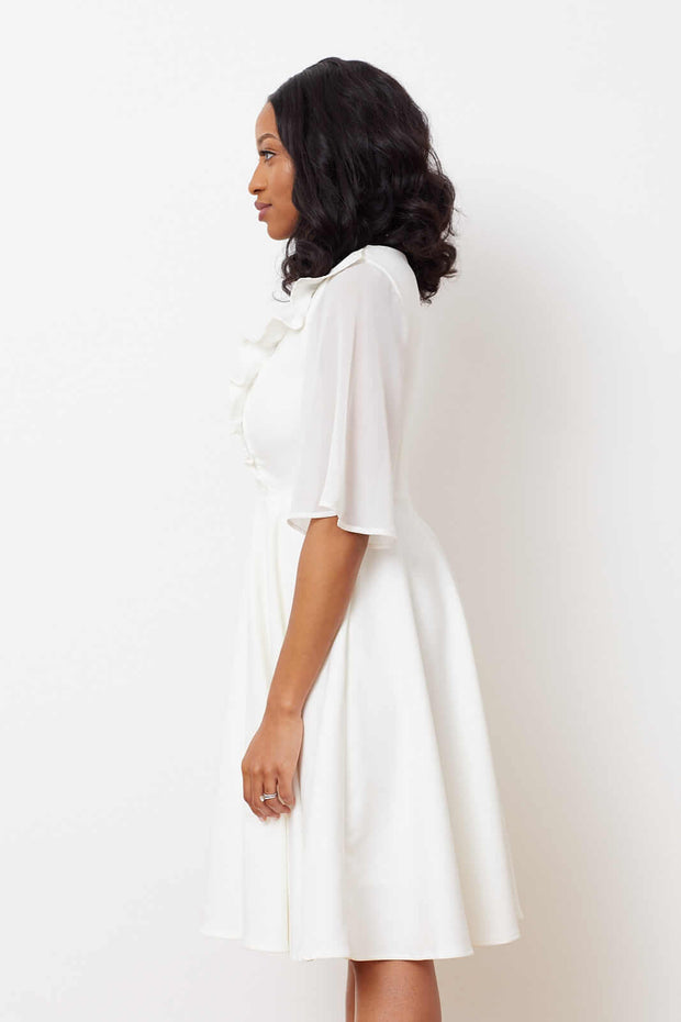 Magnolia Dress-  White