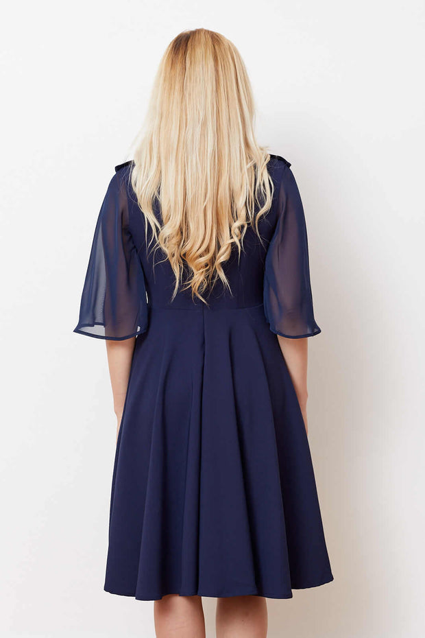 Magnolia Dress- Blue