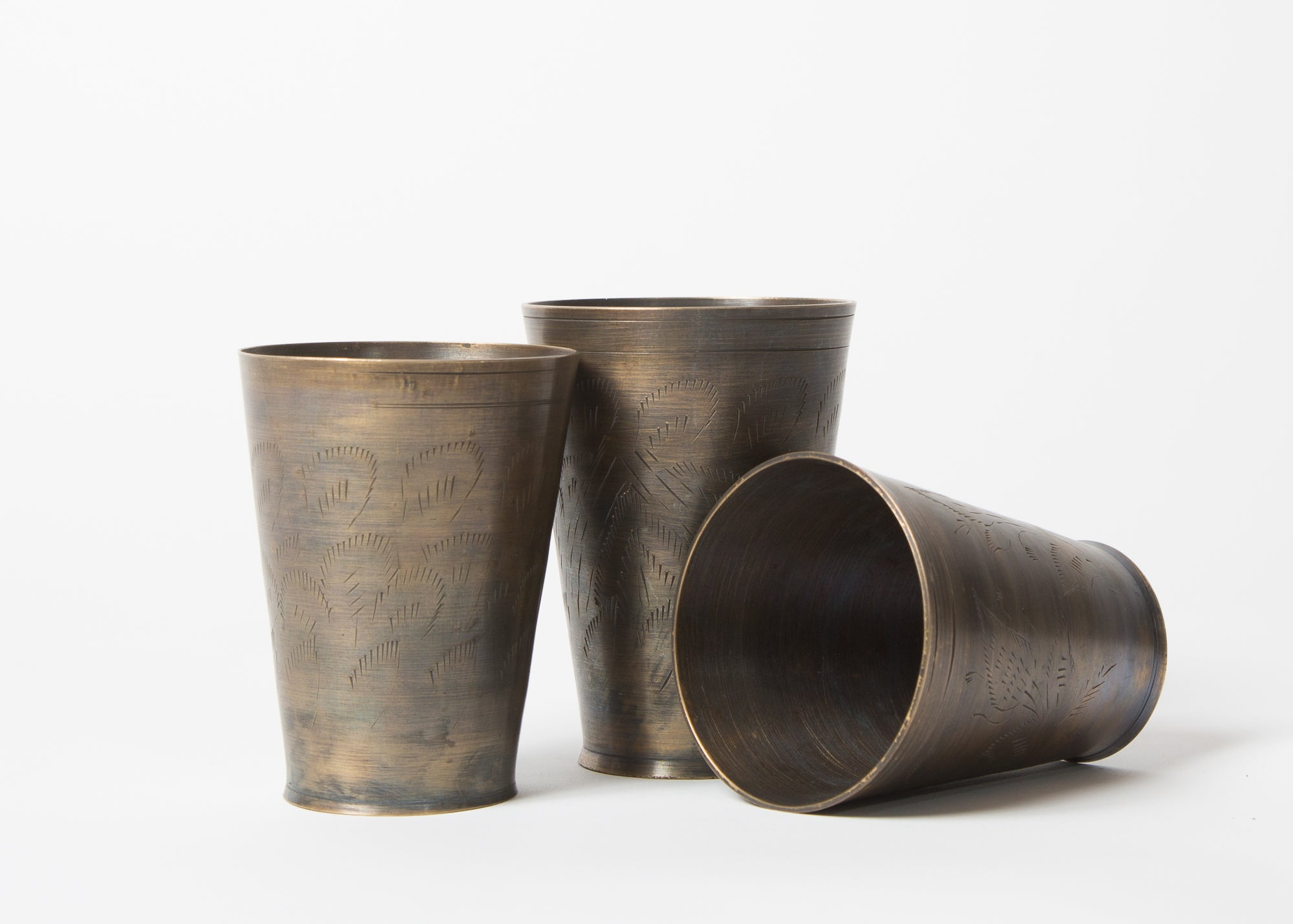 Small Brass Lassi Cups