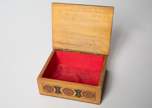 Vintage Hand Made Wooden Accessories Box