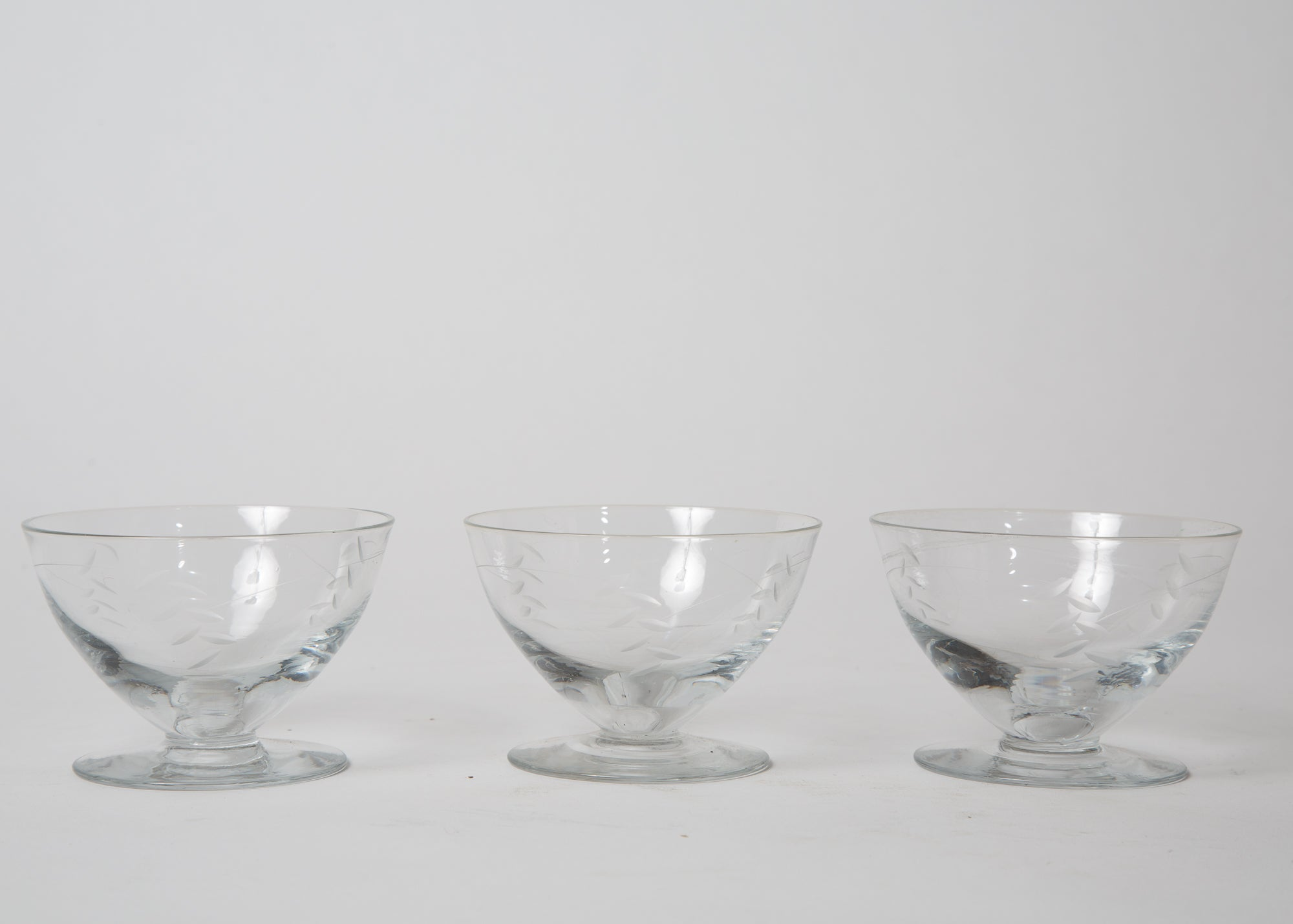 Vintage Parisian Dessert Cups Set of 3