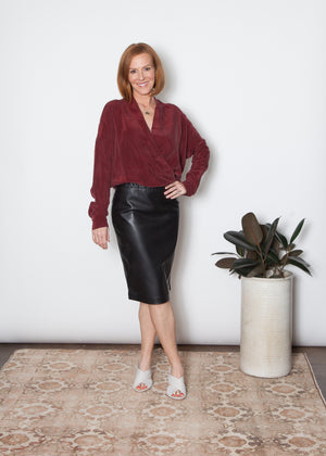 Natalie Busby Cupro Twist Blouse
