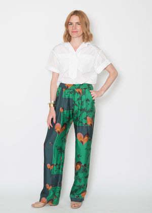Odeeh Green Silk Trouser