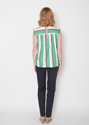 Odeeh Pleated + Striped Blouse