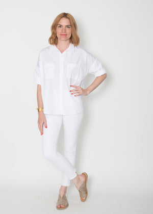 SBJ Austin Stephanie Top White Poplin
