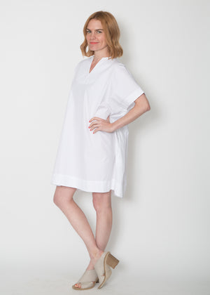 SBJ Austin Mary Dress White Poplin
