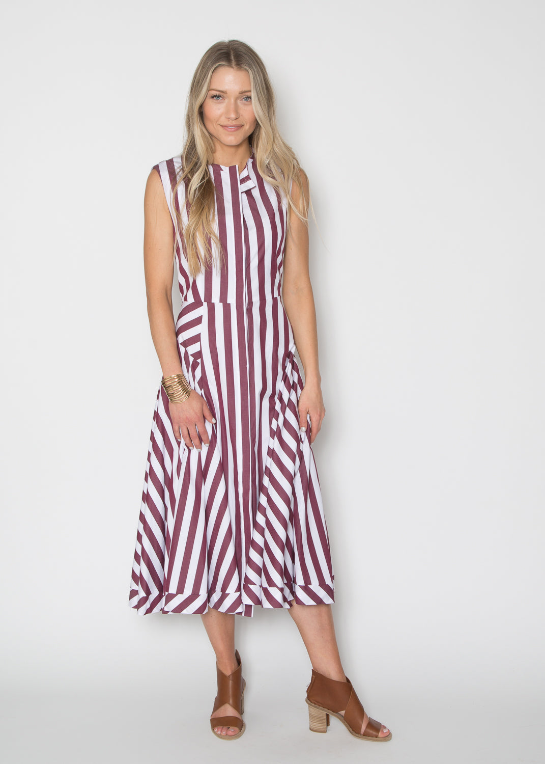 TELA Striped Panel Dress