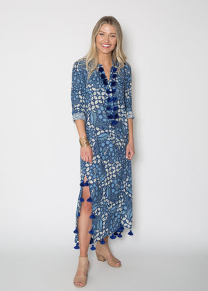 Figue Paolina Kaftan Ocean Blues