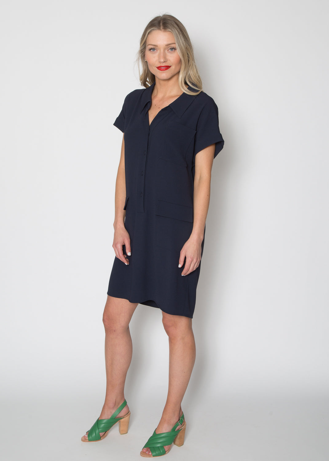 Paule Ka Double Pocket Shift Dress