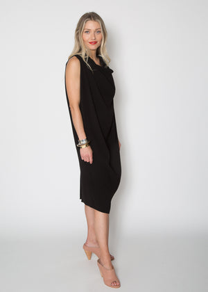 Support Surface Draped Crepe Dress