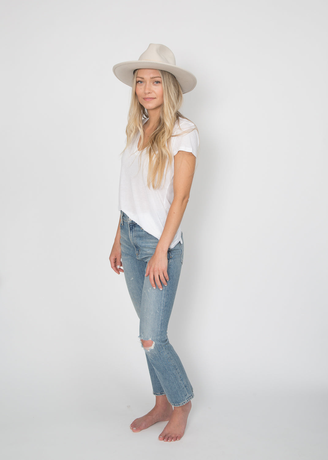 Lovely Bird Dallas Fedora Cream
