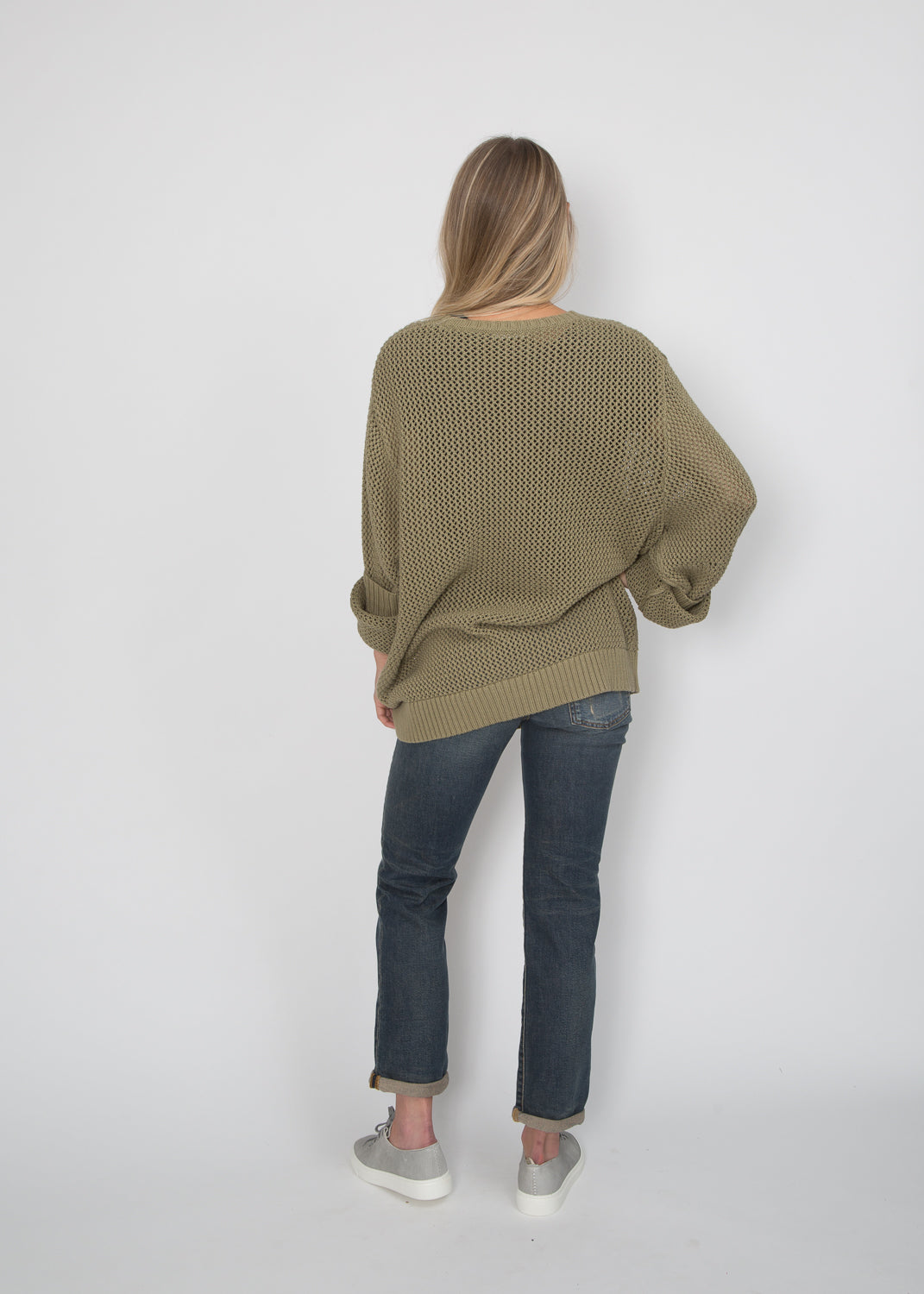 6397 Cotton Knit Crewneck Sweater