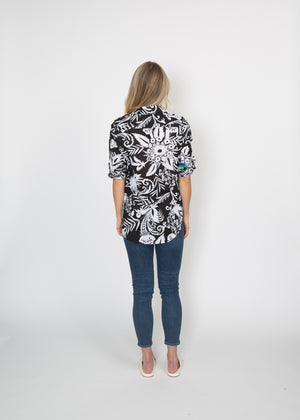 Good Company Easy Shirt B+W Graphic Floral