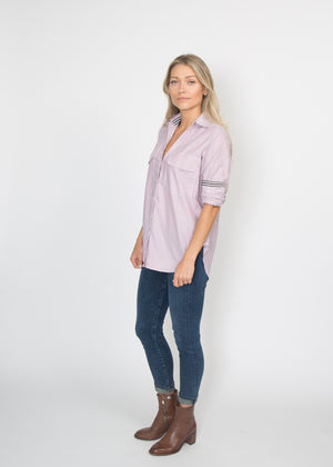 Good Company Easy Shirt Terracotta Stripe