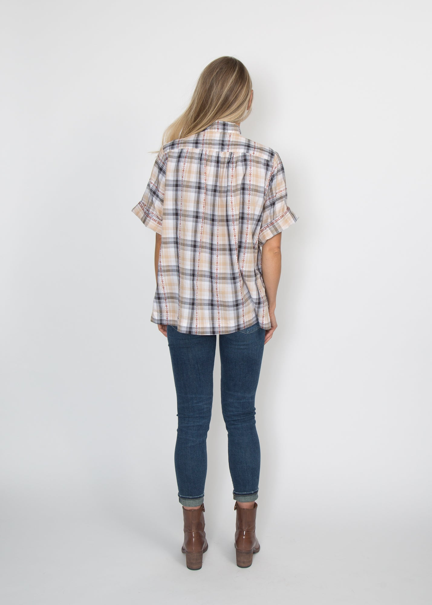Good Company Popover Shirt Rust Plaid