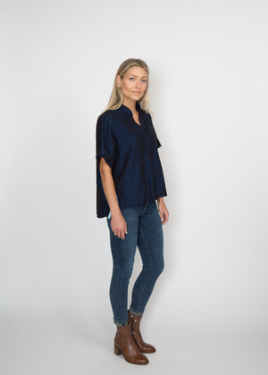 Good Company Popover Shirt Solid Navy