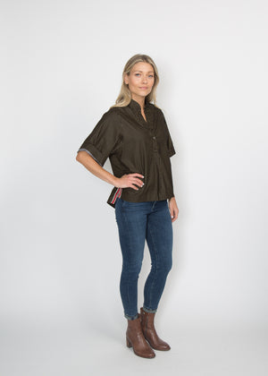 Good Company Popover Shirt Jet Black