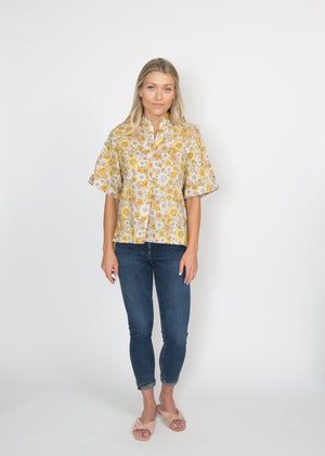 Good Company Popover Shirt Vintage Flower
