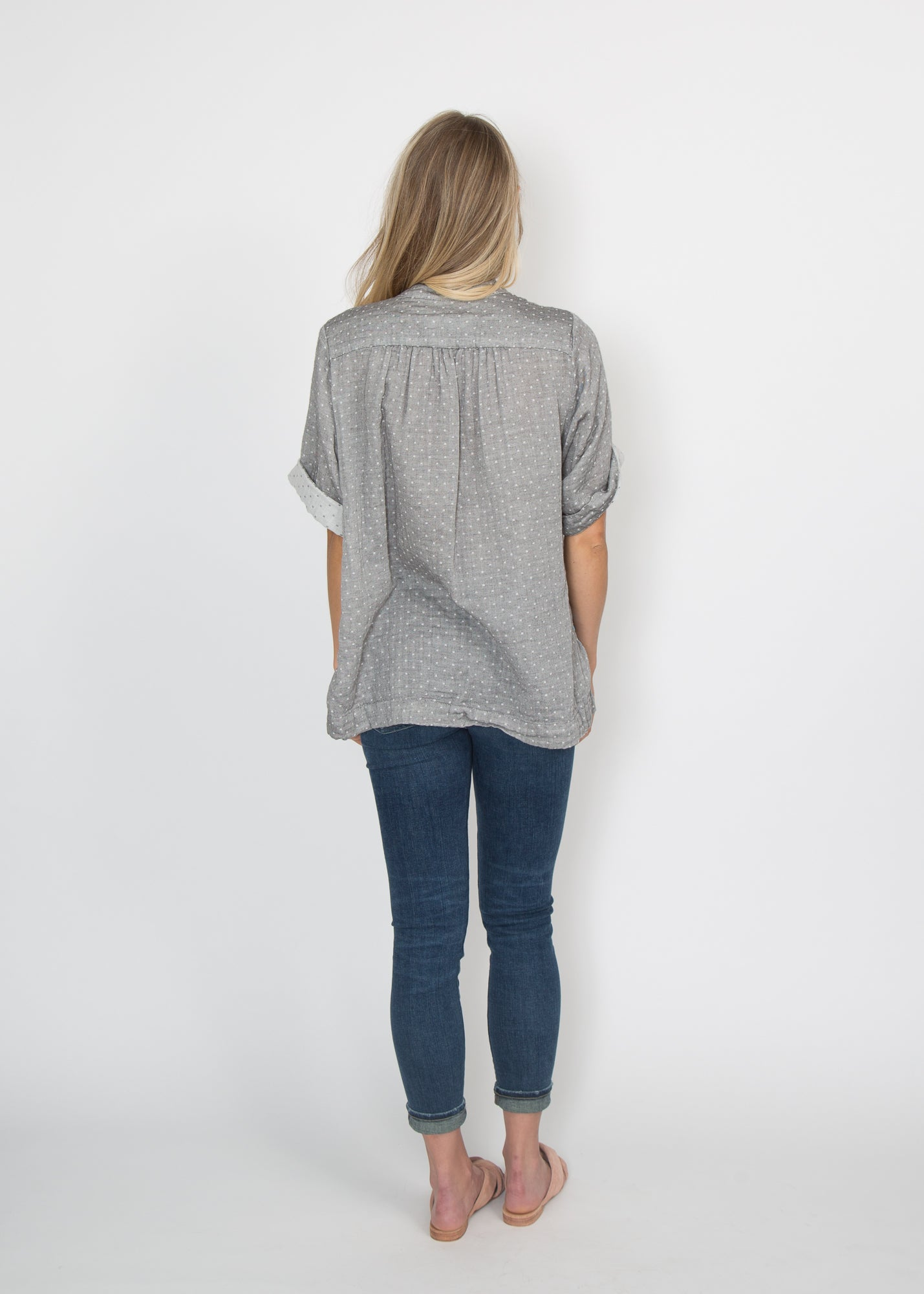 Good Company Popover Shirt Grey Dot
