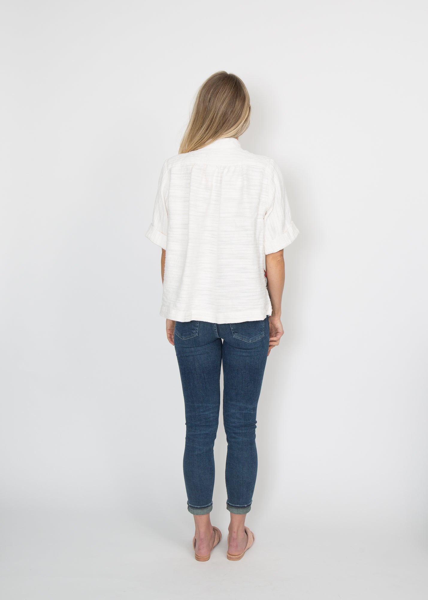 Good Company Popover Shirt White Solid
