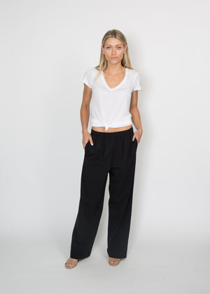 6397 Long Wide Leg Pull On Trouser