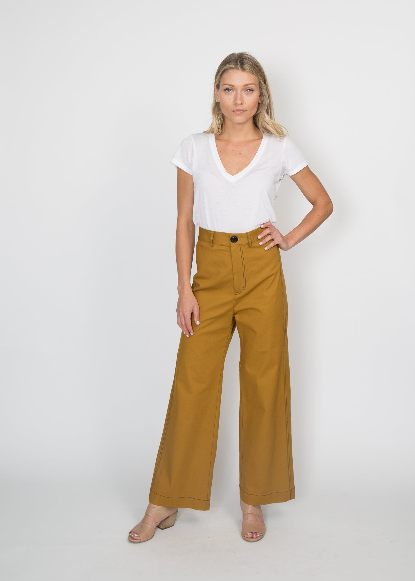 SEA NY Stevie Sailor Pant Brass