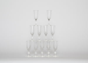 Vintage Cordial Crystal Glasses Set 11