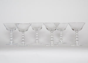 Vintage Candlewick Champagne Glasses Set of 6