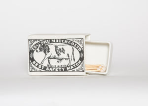 Vintage Matchbox Catch All, Cow