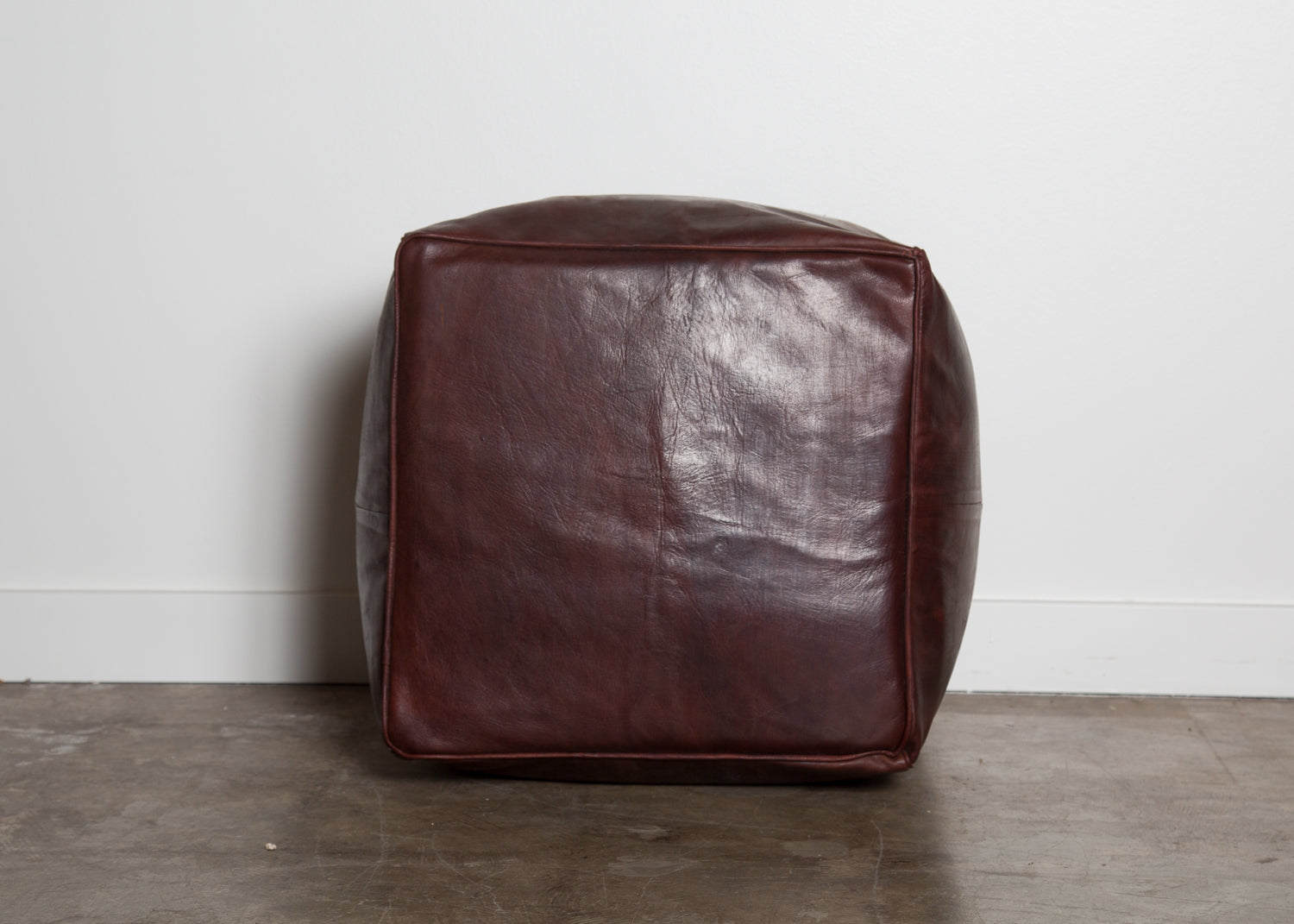 Turkish Leather Pouf