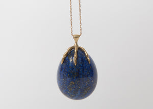 Annette Ferdinandsen 10k Lapis Egg Claw Necklace
