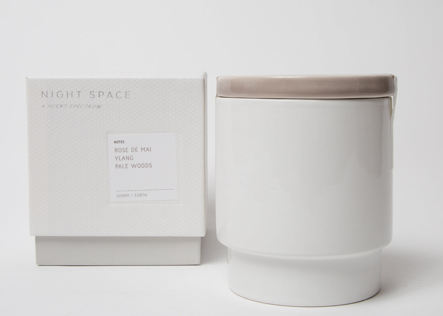 Night Space Candle Taupe