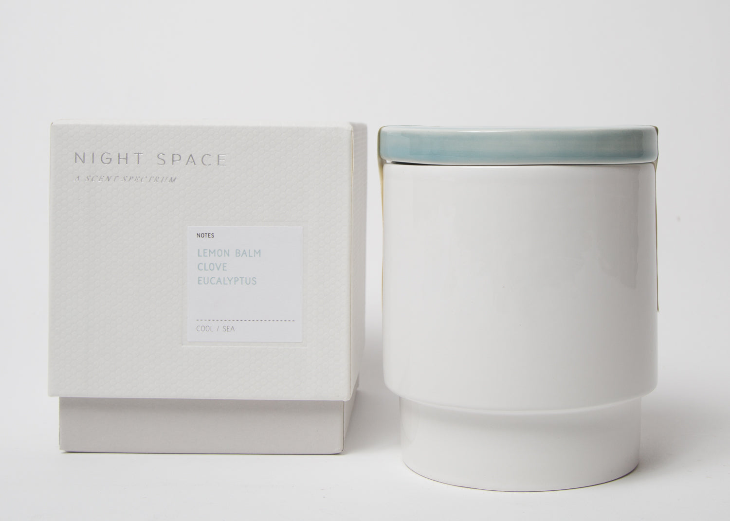 Night Space Candle Pale Blue