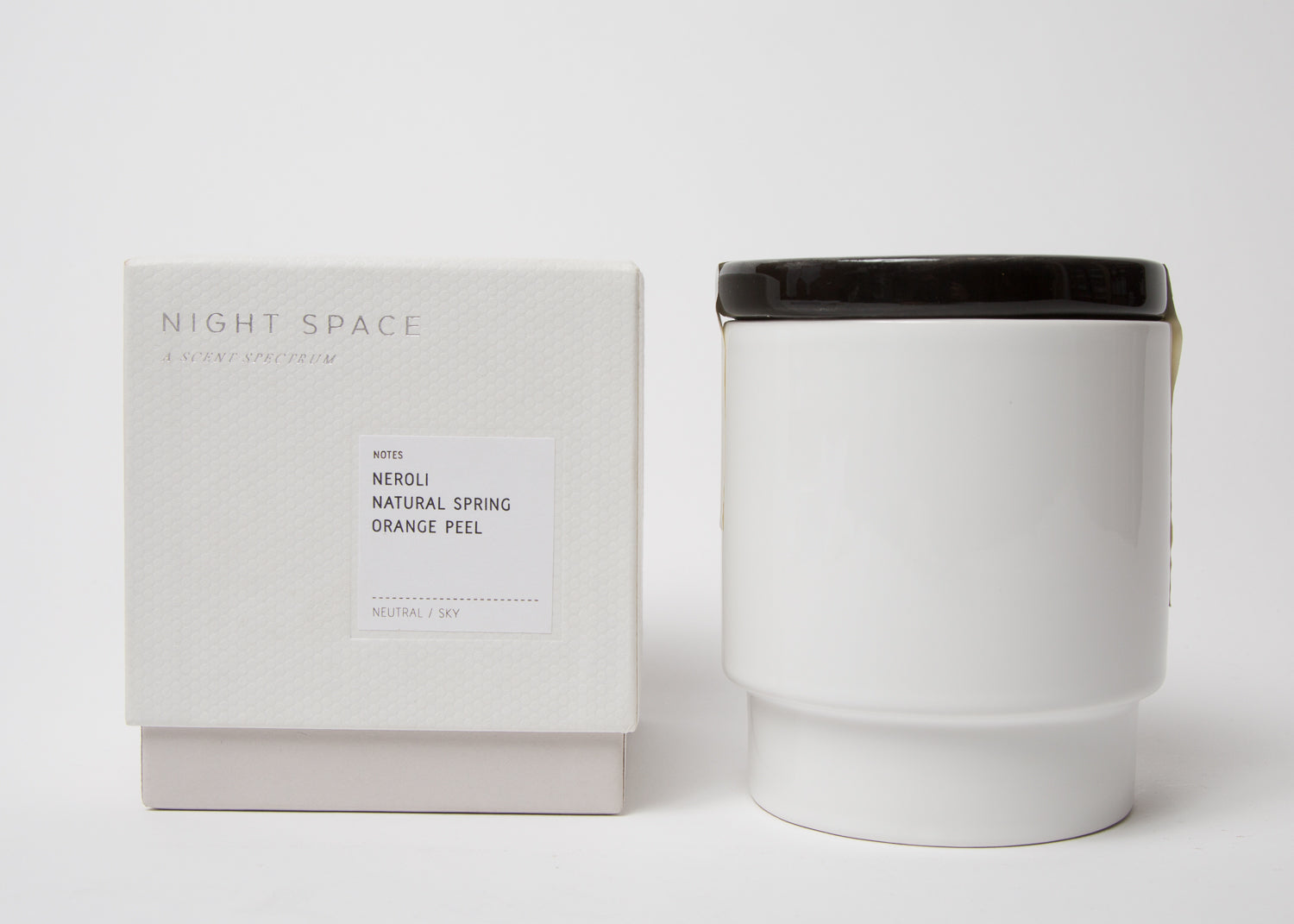 Night Space Candle True Black