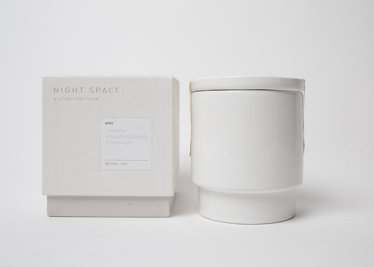 Night Space Candle White