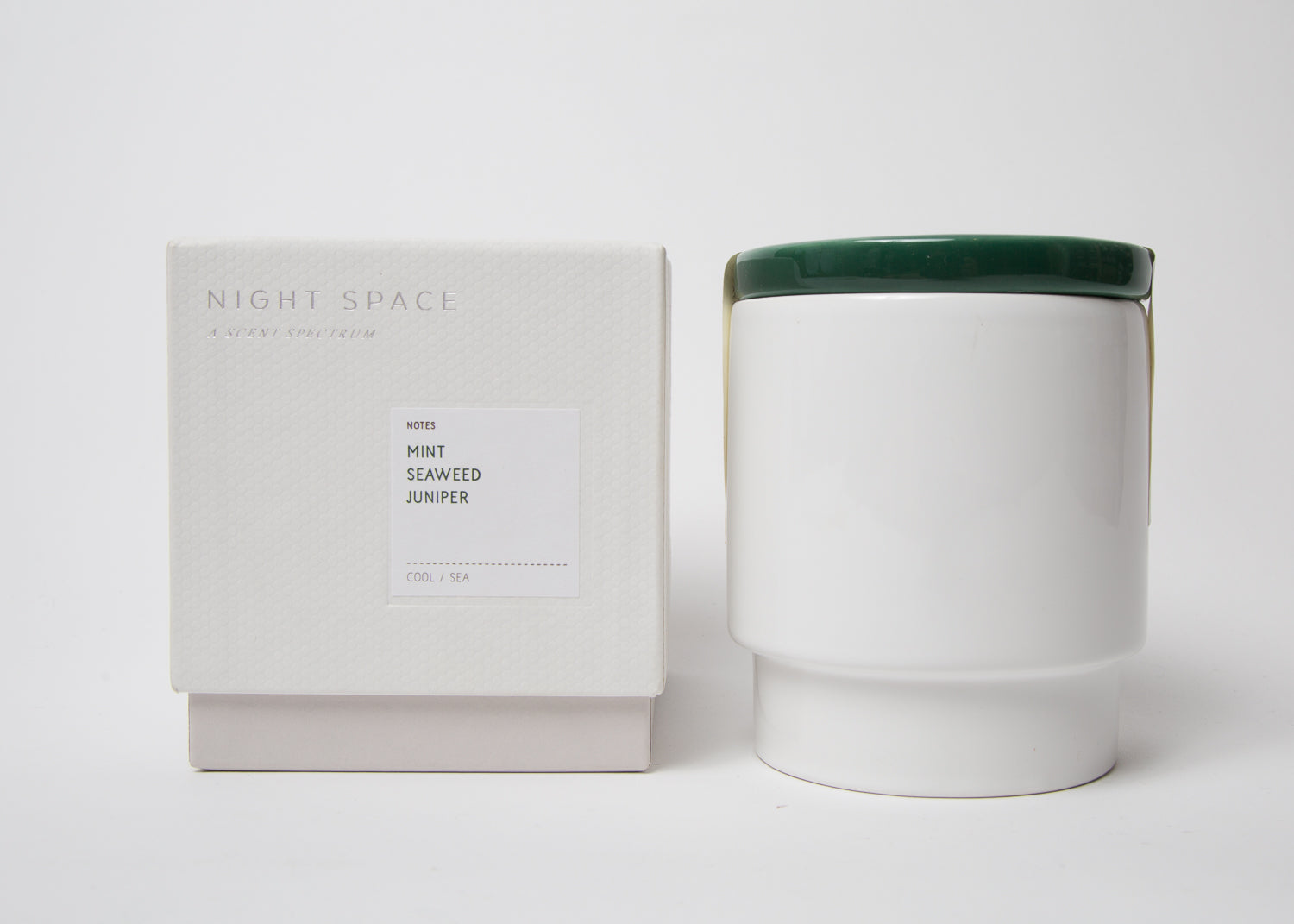 Night Space Candle Dark Green
