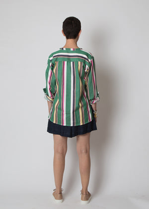 SBJ Austin Carol Top Green Stripe